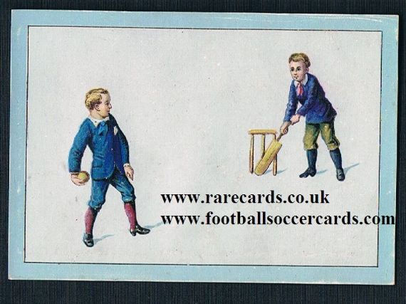 1900s French cricket trade card cricketing boys